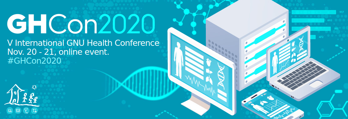 picture of a banner or logo from GNU Health Conference 2020