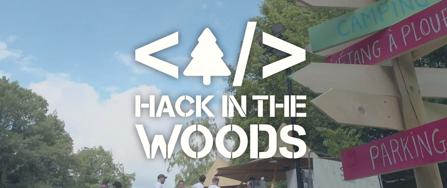picture of a banner or logo from Hack in the woods